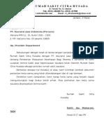 Surat Pengantar JAsindo