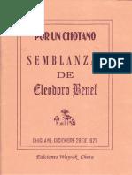 Semblanzas de Eleodoro Benel 1927