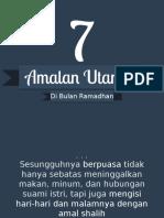 Amalan Ramadhan - Presentasi.net