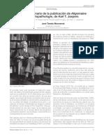 Reseña de Su Libro Psicopatología y Biografia