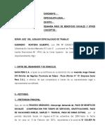 Demanda Beneficios Sociales Guerrero Renteria Gilberto Nueva Ley