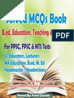 Education MCQs,  B.Ed. MCQs Solved MCQs (1).pdf