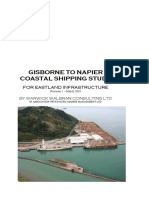 Gisborne Napier Coastal Shipping Link