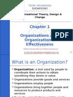 Part 1 Organizationsandorganizationaleffectiveness 160810015030