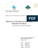 Behavior of Swedes Towards Milk Substitute Products
