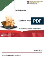 TBA-2016-08 Context Free Grammar