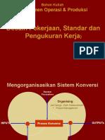Materi Power Point Desain Pekerjaan Standar OP & Produksi Serta Pengukuhan Kerja