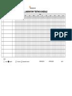 Annual Laboratory Testing Schedule