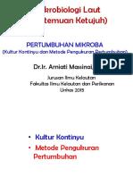 7-Pertumbuhan Mikroba (Kultur Kontinyu Dan Perhitungan)