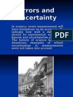 Errors and Uncertainty Ppp