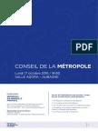 Dossier Presse Conseil Metropole Aix Marseille Provence