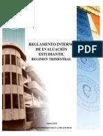 Reglamento de Evaluacion Estudiantil 2015