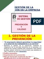 La Gestión de La Prevención en La Empresa