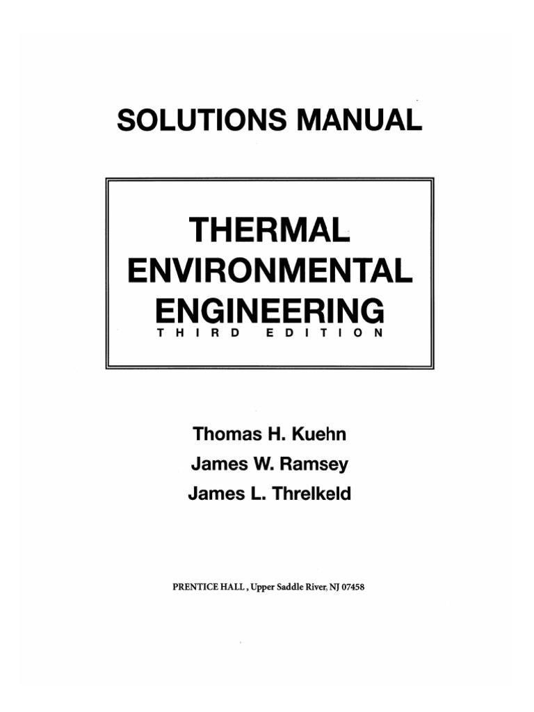 283642616 hvac thermal environmental engineering solutions rh es scribd com environmental engineering solution manual pdf environmental engineering solution manual