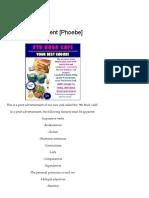 Print Advertisement [Phoebe] – Writers of Grade 9