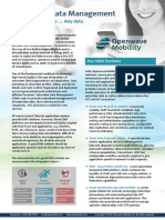 Openwave Mobility SDM Solution Sheet