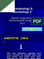 ANESTETIK  LOKAL (Salinan berkonflik Sekolah Tinggi Farmasi Tangerang 2016-04-21).ppt