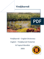 Yindjibarndi Dictionary Wordlists Cover 2003 Print Ready Burgman