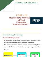 Mechanical Working of Metals