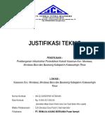 Justifikasi Teknis Jjj