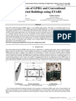 Static Analysis of GFRG and Conventional Multistoried Buildings using ETABS