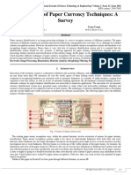 Identification of Paper Currency Techniques