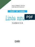 Limba Romana Caiet Cirstea 5