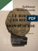 Le Rire Et Les Rieurs - Mon Suicide (1925) - ROORDA, Henri 'Balthasar' 1870-1925
