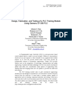 Design, Fabrication, and Testing of a PLC Training Module Using Siemens S7-300 PLC