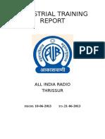 ALL INDIA RADIO Industrial Training Repo