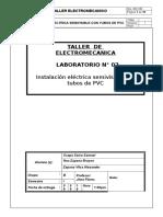 TALL1 Instalacion Electrica Semivisible Con Tubos de PVC