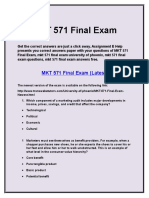 MKT 571 Final Exam :MKT 571 final exam answers | mkt 571 final exam 2015 | Assignment E Help