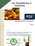Frutos, Pseudofrutos e Sementes