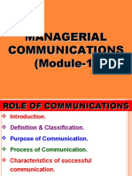 Module 1-Role of Communication