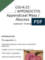 k25 (Kelas a2) Bedah Acute Appendicitis