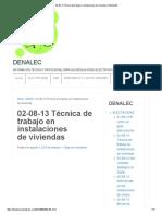 02-08-13 Técnica de Trabajo en Instalaciones de Viviendas _ DENALEC