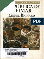 RICHARD, Lionel - A República de Weimar - Cap I