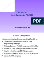 Introduction to PL SQL 10g