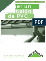 Colocacion de Canaletas de PVC