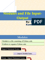Python-06(Modules and File Input-Output)