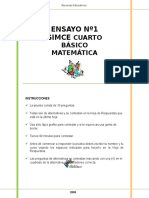simce 4to matematica