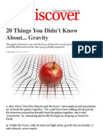20 things you didnt know about gravity discovery magazine article
