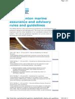 Noble Denton list of guidelines