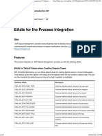 BAdIs for the Process Integration - SAP Dispute Management Configuration Guide for FI-AR - SAP Library