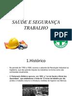 Aula 1 - Introdução Saude e Segurança No Trabalho