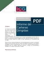 Informe Carteras Dirigidas Septiembre 2016