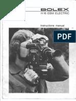 Bolex h16 Ebm Electric Manual