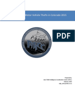 Assessment of Motor Vehicle Thefts in Colorado 2015