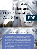 The Real Estate Regulatory Act 2016