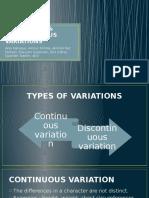 Continuous & Discontinuous Variations